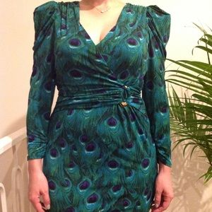 Laundry by Shelli Segal peacock dress